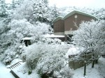 雪景色の久徴園