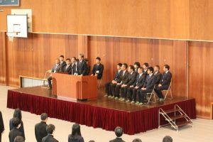 新任教職員代表挨拶