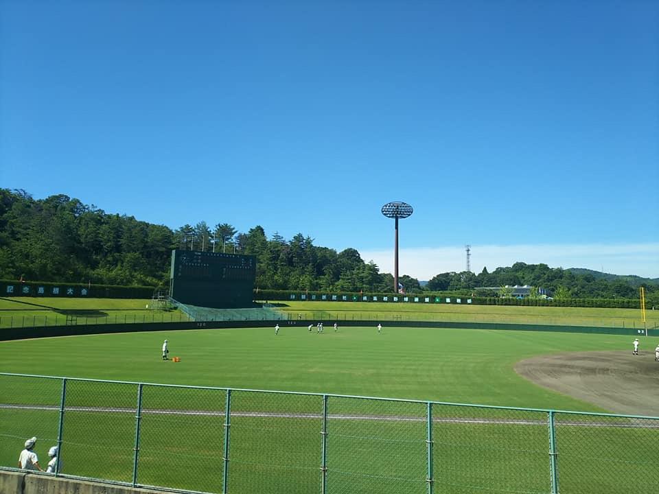 快晴の松江市営野球場