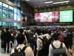 入国審査前のチャンギ空港